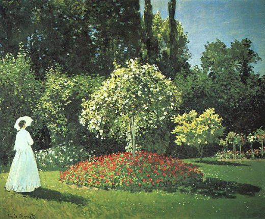 claude monet jeanne marguerite lecadre in the garden painting