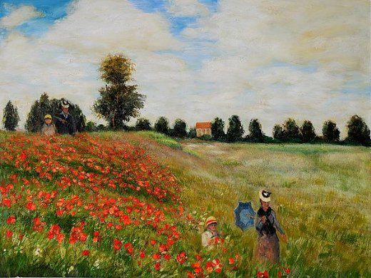 Poppy Field In Argenteuil Painting &amp Claude Monet Paintings For Sale
