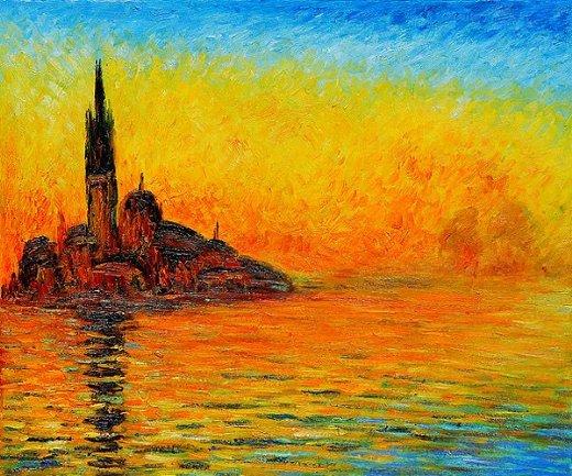 Shopping Claude Monet San Giorgio Maggiore By Twilight