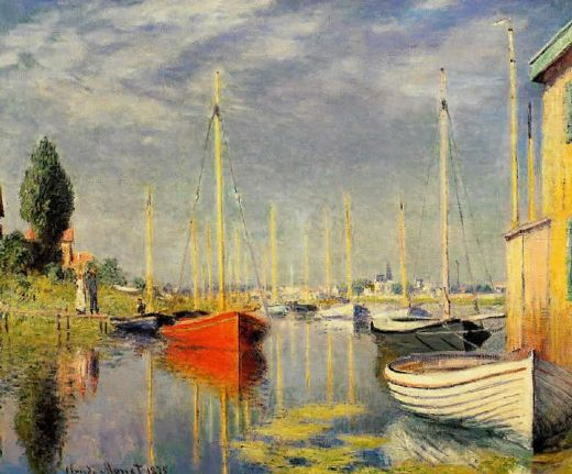 claude monet yachts at argenteuil paintings
