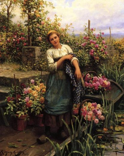 Daniel Ridgway Knight Paintings | Oil Paintings Gallery