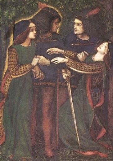 dante gabriel rossetti how they met themselves ii painting
