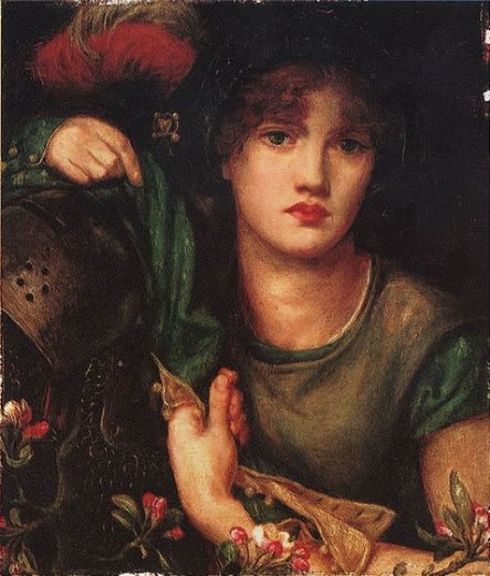 dante gabriel rossetti my lady greensleeves ii painting