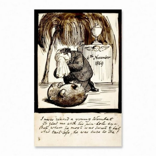 dante gabriel rossetti rossetti lamenting the death of his wombat painting
