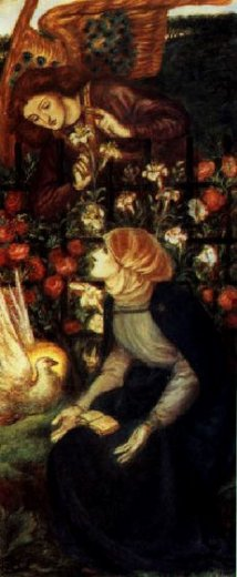 dante gabriel rossetti the annunciation painting