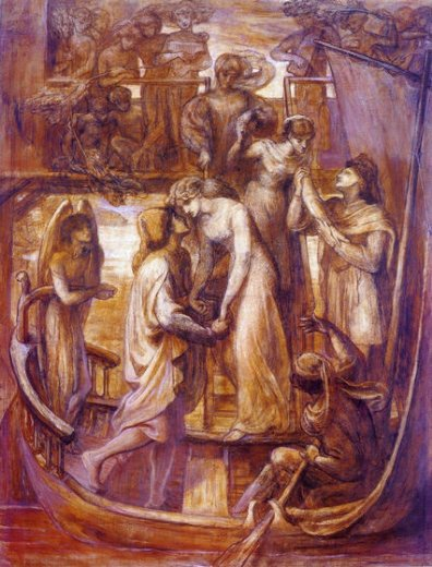 dante gabriel rossetti the boat of love paintings