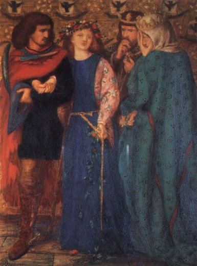 dante gabriel rossetti the first madness of ophelia oil painting