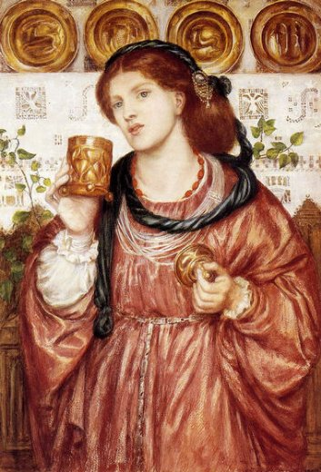 dante gabriel rossetti the loving cup paintings