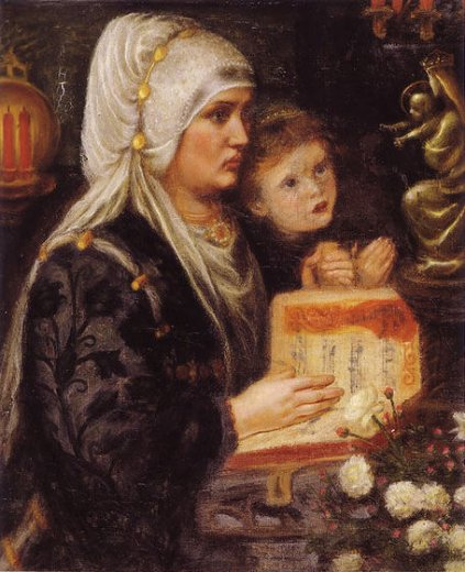 dante gabriel rossetti the two mothers paintings