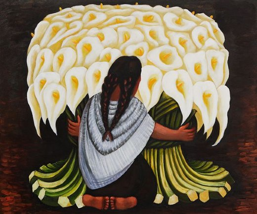 diego rivera the flower seller paintings
