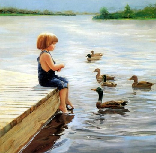 Summer Lake Painting Amp Donald Zolan Summer Lake Paintings