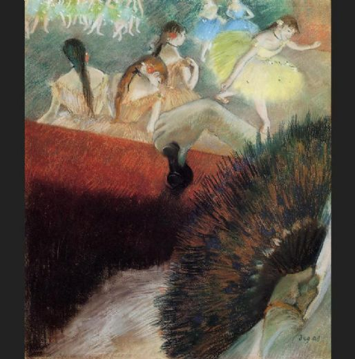 edgar degas at the ballet painting