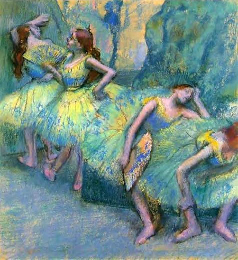 edgar degas ballet dancers in the wings paintings