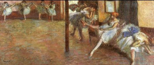 edgar degas ballet rehearsal 1891 paintings