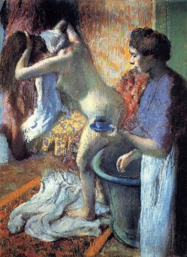 edgar degas breakfast after the bath ii paintings