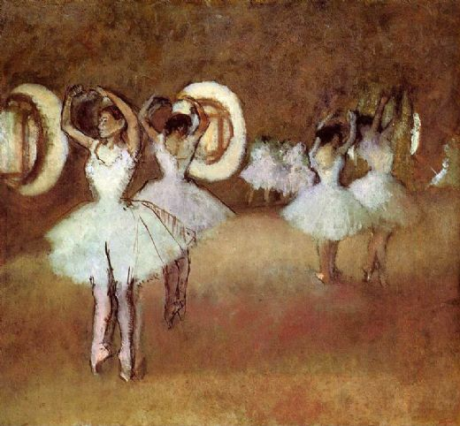 edgar degas dance rehearsal in thestudio of the opera painting