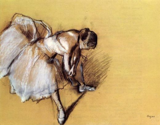 edgar degas dancer adjusting her slipper paintings