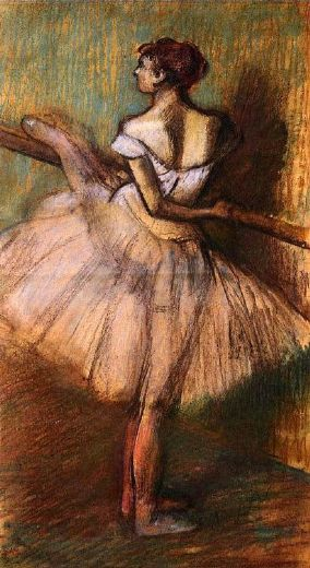 edgar degas dancer at the barre ii paintings