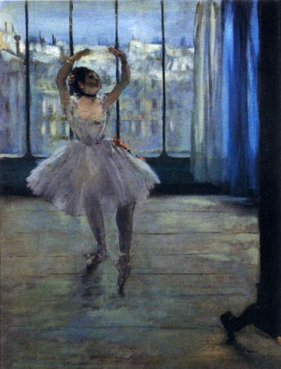 edgar degas dancer at the photographer s studio painting