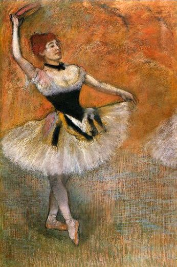 edgar degas dancer with a tambourine paintings