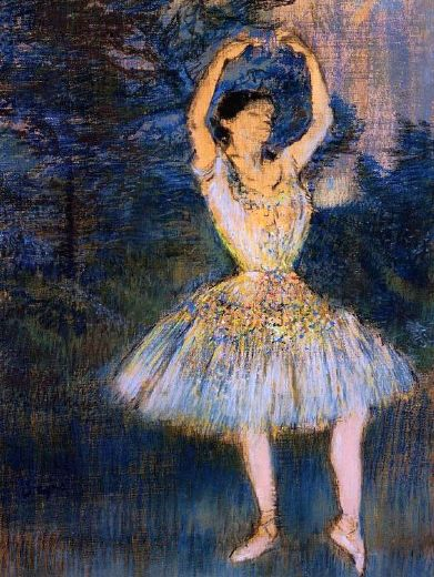 edgar degas dancer with raised arms paintings