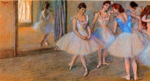 edgar degas dancers in the studio painting