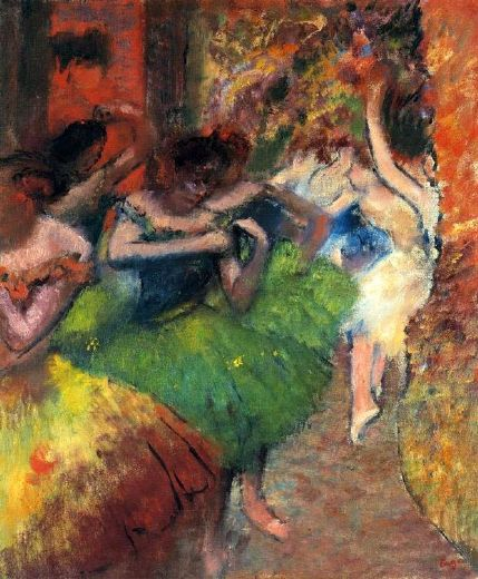 edgar degas dancers in the wings ii paintings