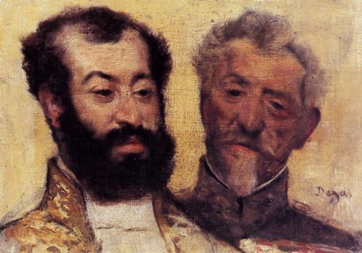 edgar degas general mellinet and chief rabbi astruc painting