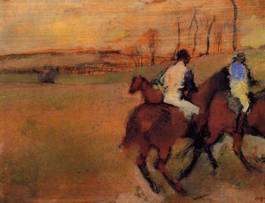 edgar degas horses and jockeys paintings