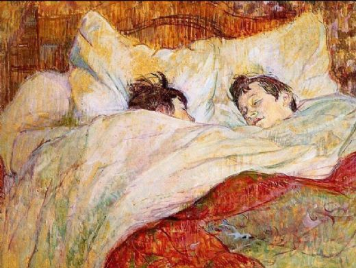 edgar degas in bed painting