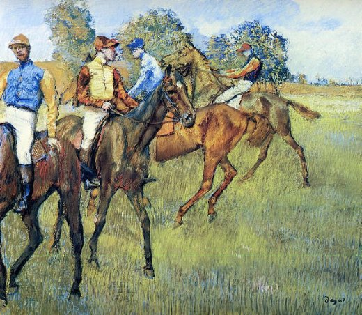 edgar degas race horses painting