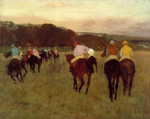edgar degas racehorses at longchamp paintings