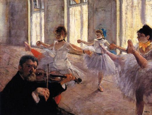 edgar degas rehearsal paintings
