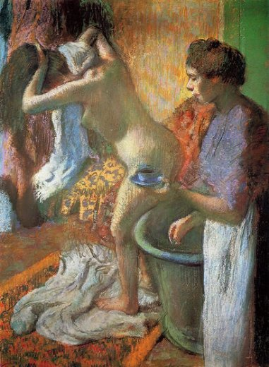 edgar degas the cup of tea painting