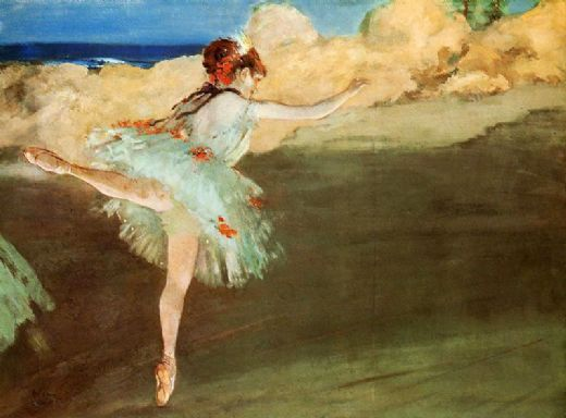 edgar degas the star dancer on pointe painting
