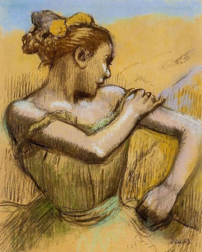 edgar degas torso of a dancer painting