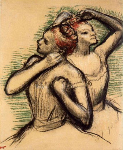 edgar degas two dancers iii painting