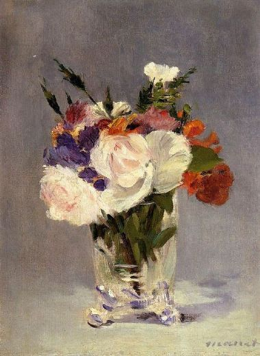 edouard manet flowers in a crystal vase i painting