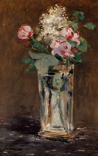 edouard manet flowers in a crystal vase paintings