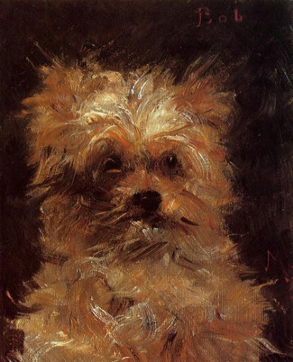 edouard manet head of a dog bob painting