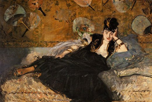 edouard manet lady with fans portrait of nina de callais paintings