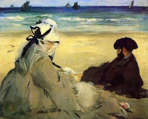 edouard manet on the beach painting