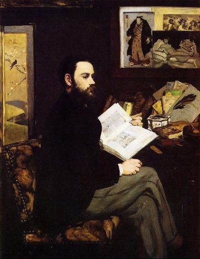 edouard manet portrait of emile zola painting