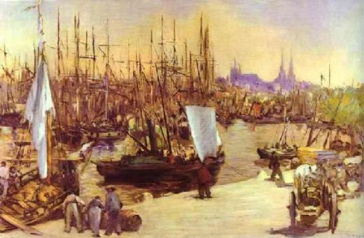 edouard manet the harbour at bordeaux paintings