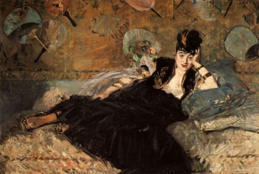 edouard manet woman with fans painting