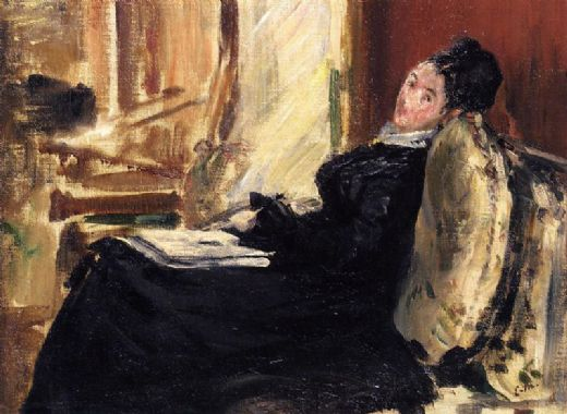edouard manet young woman with book paintings
