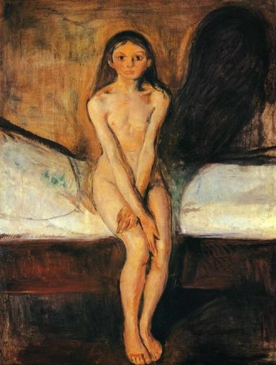 edvard munch puberty 1894 paintings