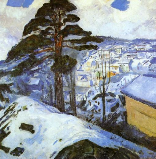 edvard munch winter kragero paintings