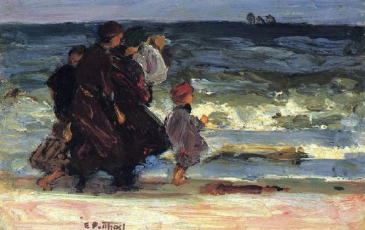 edward henry potthast a family at the beach paintings