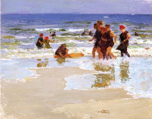 edward henry potthast at the seashore ii paintings